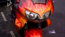 Fire Bike Graffiti