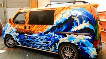 Wave Car Graffiti