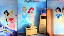 Disney-Princess-Graffiti-Bedroom-Mural