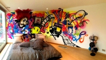 Girls Bedroom Graffiti