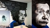 Albert Einstein Graffiti Street Art Mural