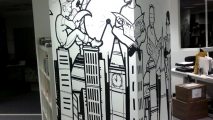 London Office Graffiti Art Mural