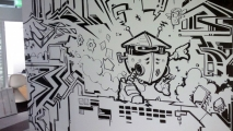 Office Graffiti Art Mural