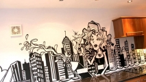 Kitchen Night Out Celebration Graffiti Art Mural