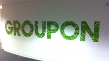 Groupon Logo Letter Graffiti Art Mural