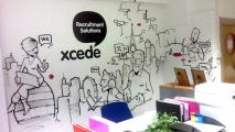 Xcede Office Graffiti Art Mural