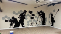 Film Silhouettes Graffiti Art Mural