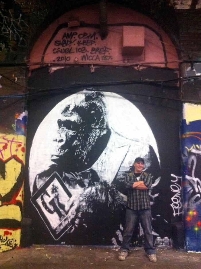 rise of the planet of the apes - apes will rise graffiti london