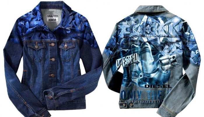 Diesel only the brave graffiti kings jacket