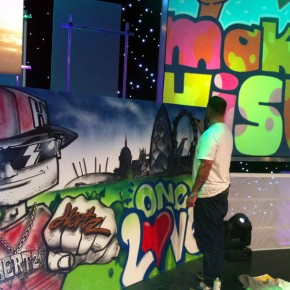 graffiti kings live on stage graffiti art
