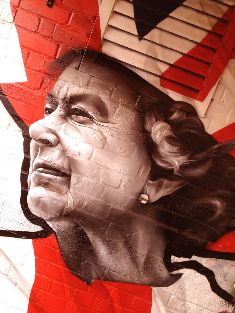 The HRM Queen Elizabeth mural by Graffiti Kings