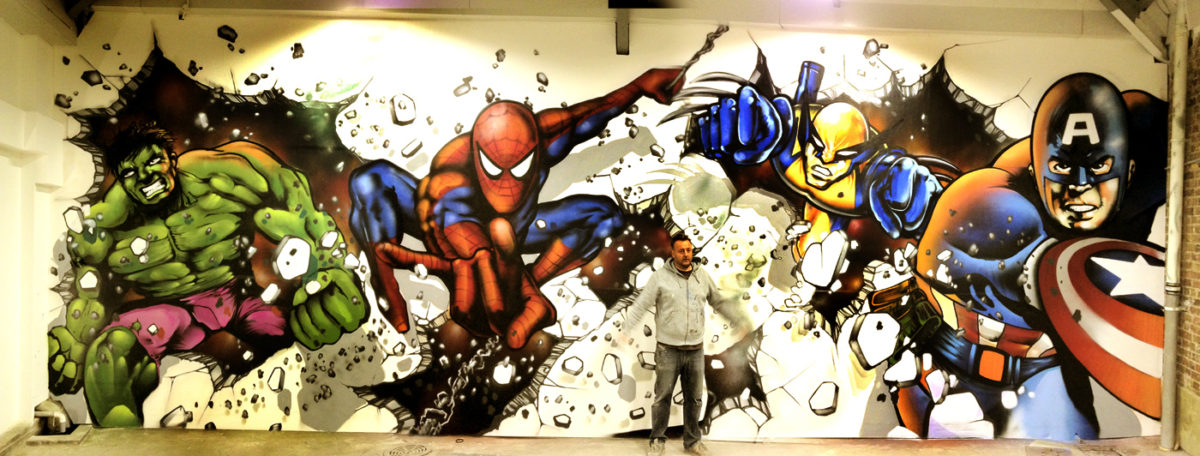 Marvel Avengers mural – watch the video here :)
