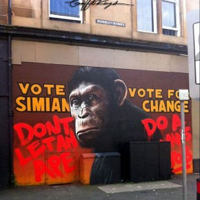 planet of the apes graffiti
