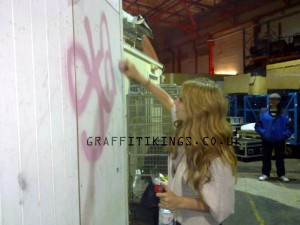 stacey solomon graffiti