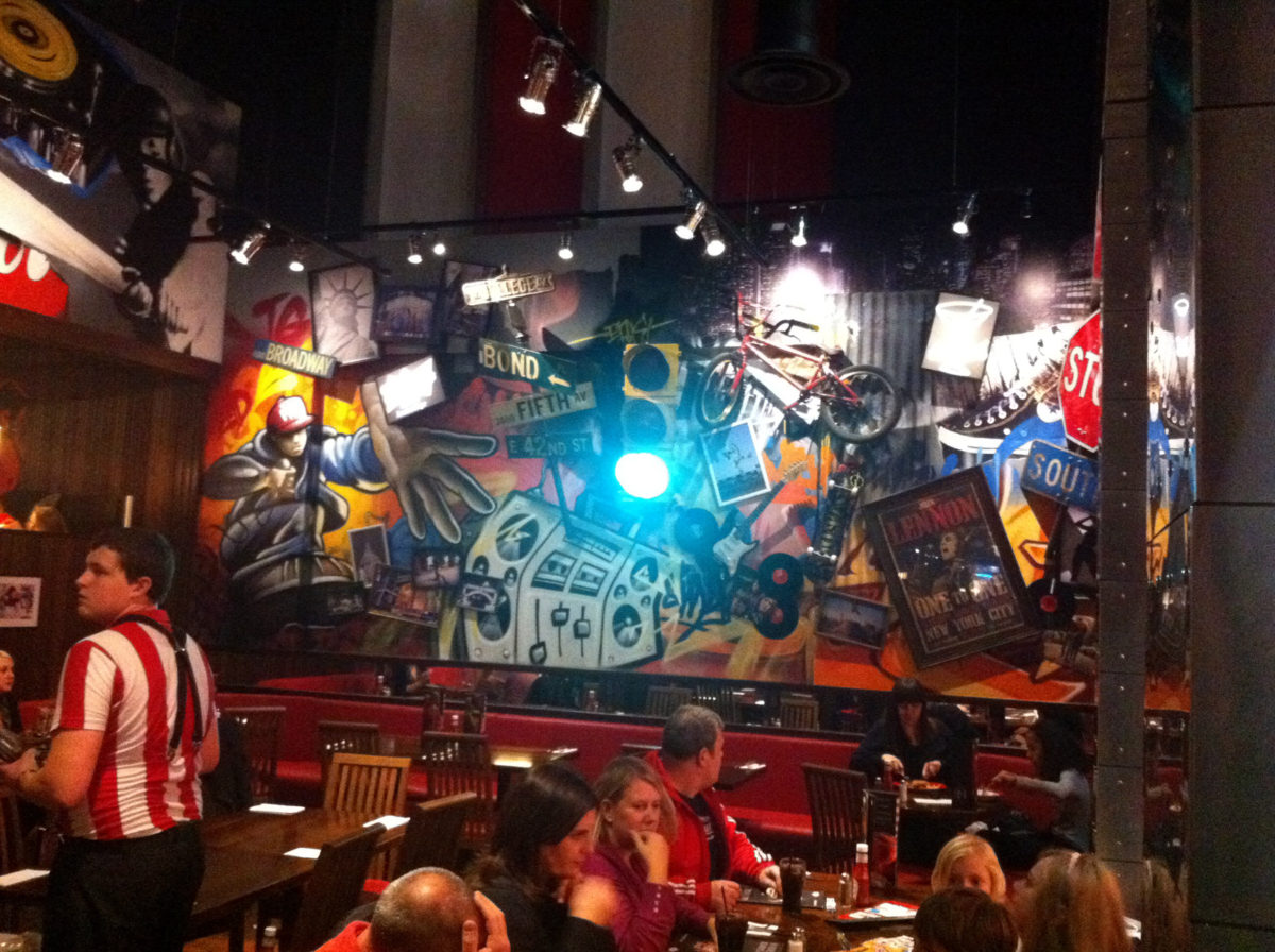 TGI Fridays Graffiti Murals UK Wide