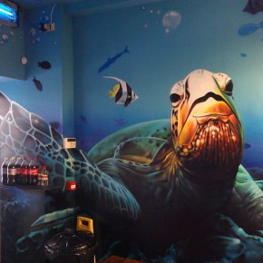 underwater graffiti scene art