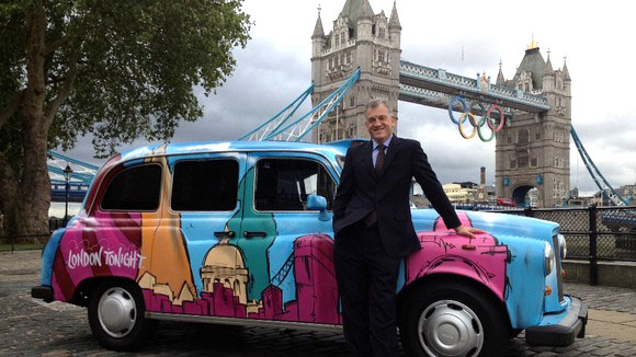 Graffiti Kings pimp the London Tonight Olympic cab