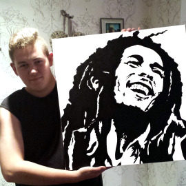 Original Bob Marley painting by Charlie Buster