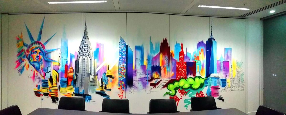 Office Graffiti Mural Street Art