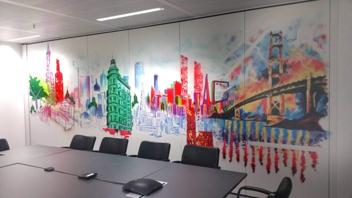 Graffiti Office Mural Street Art