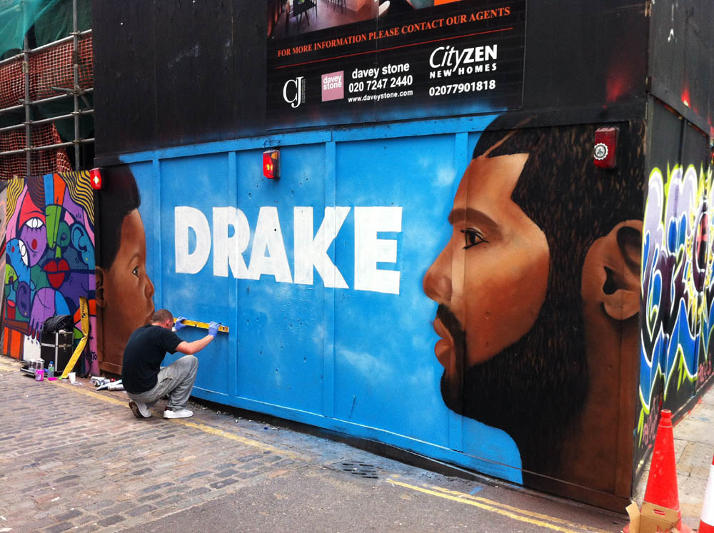 Drake Graffiti London