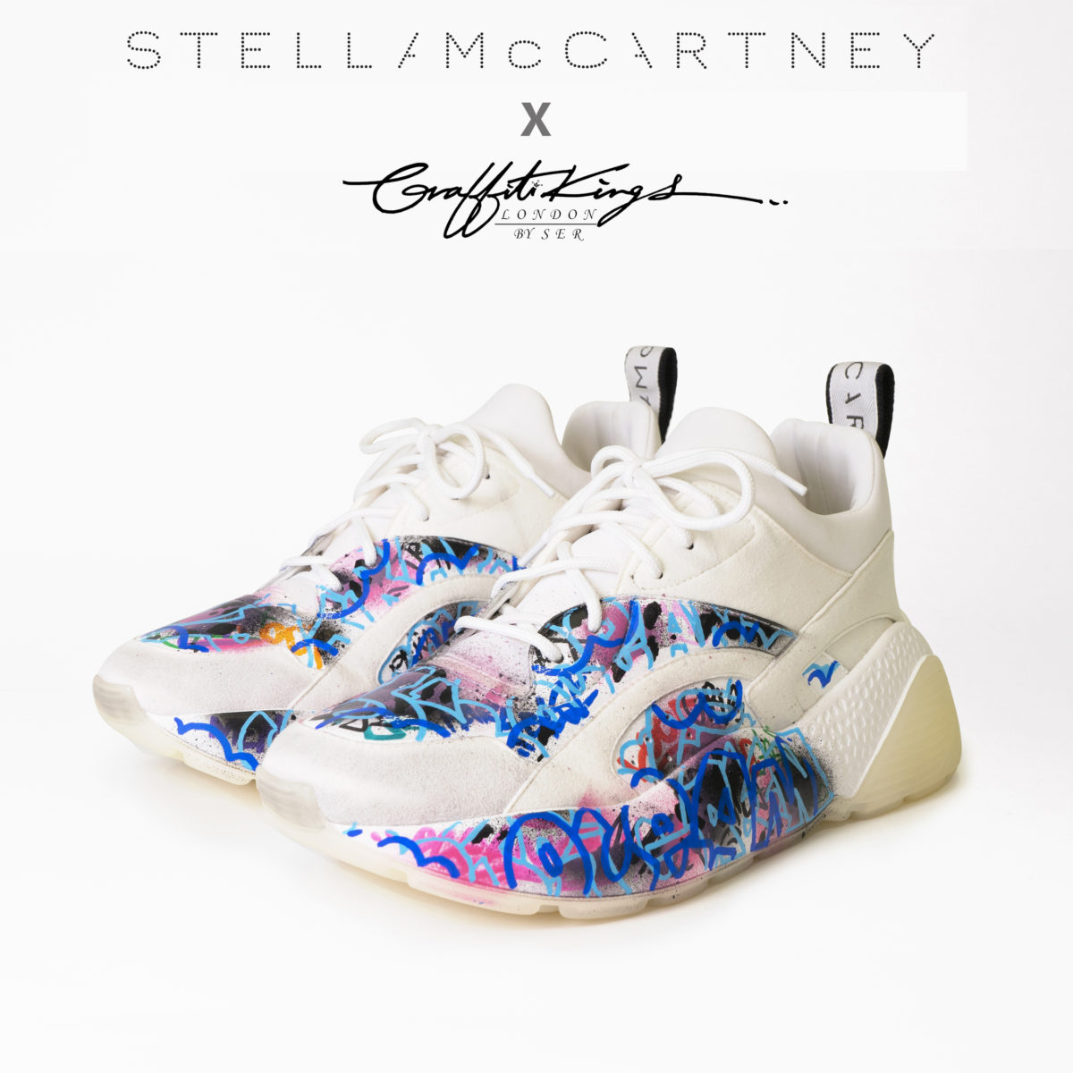 Stella McCartney x Graffiti Kings Custom Sneakers Trainers 4