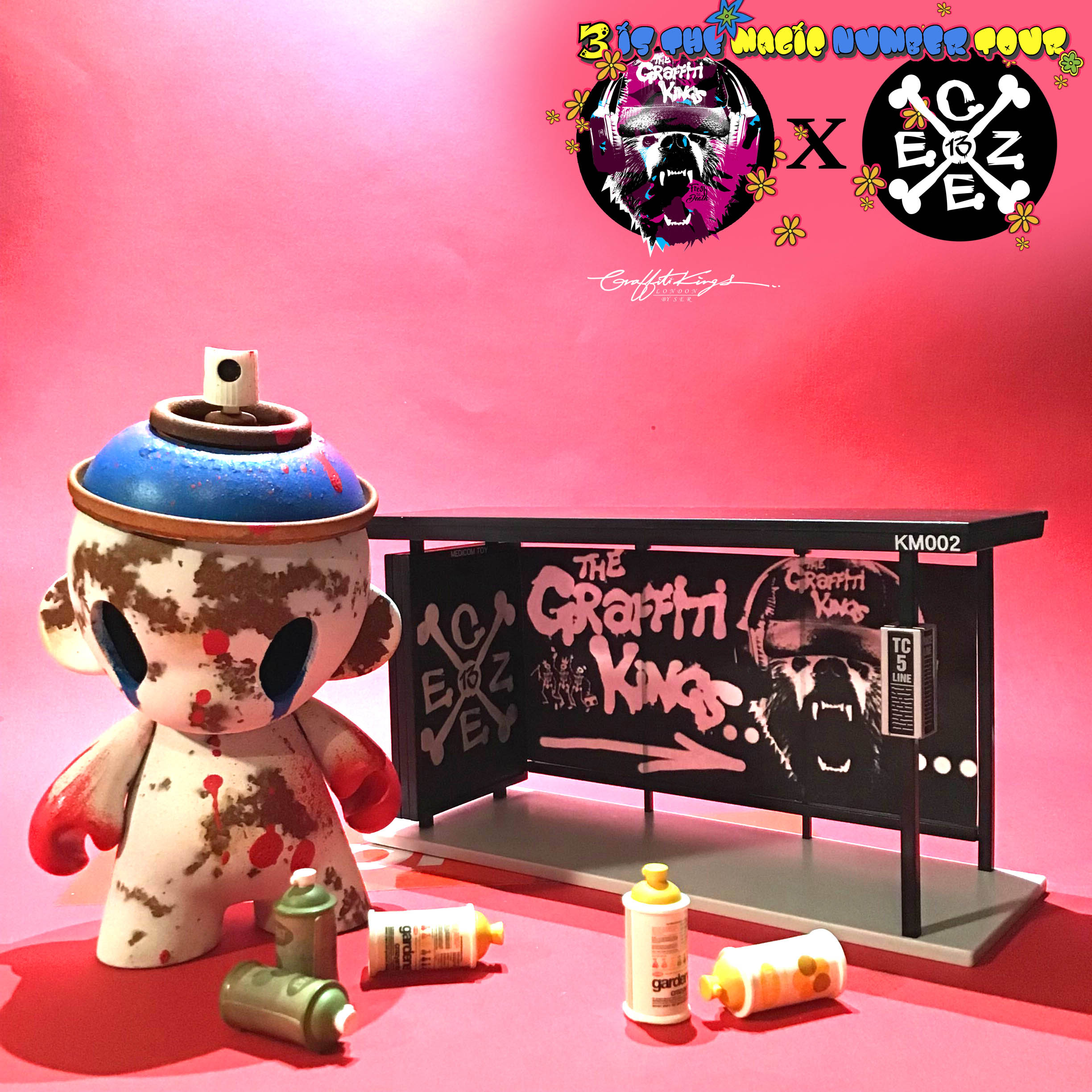 Graffiti Kings x czee13 custom designer toy