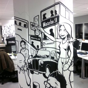 office graffiti art