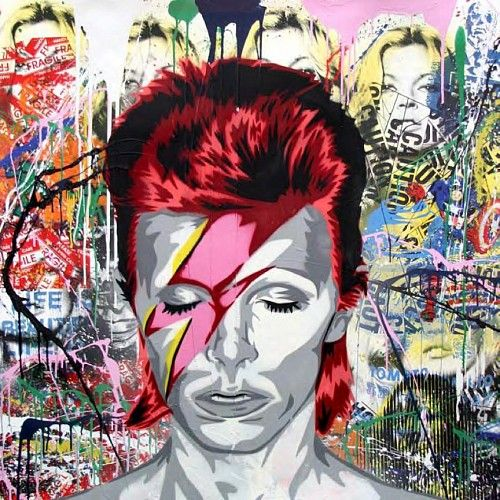 David Bowie painted by Graffiti & Street artists