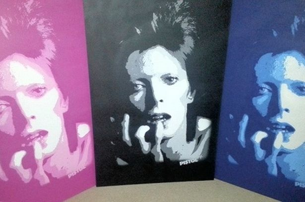 David Bowie Graffiti Street Art