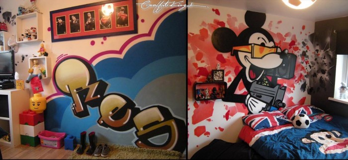 Bedroom Graffiti mural