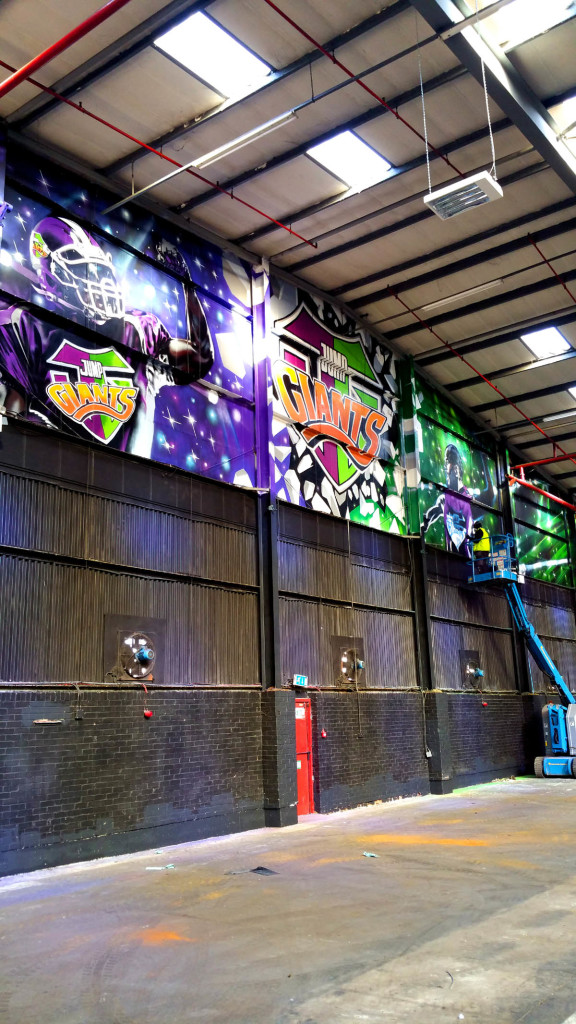 Jump Giants Trampoline Graffiti Park