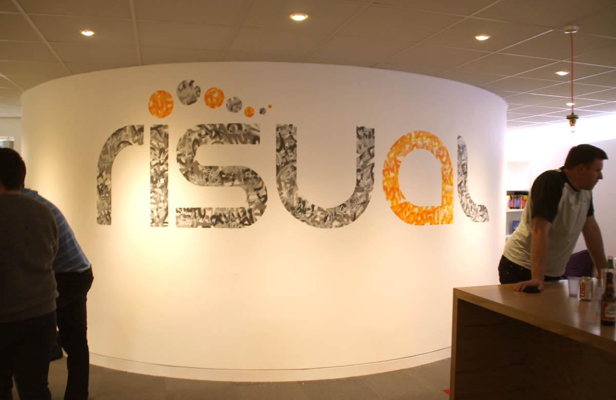 RISUAL Office Graffiti Mural Artwork