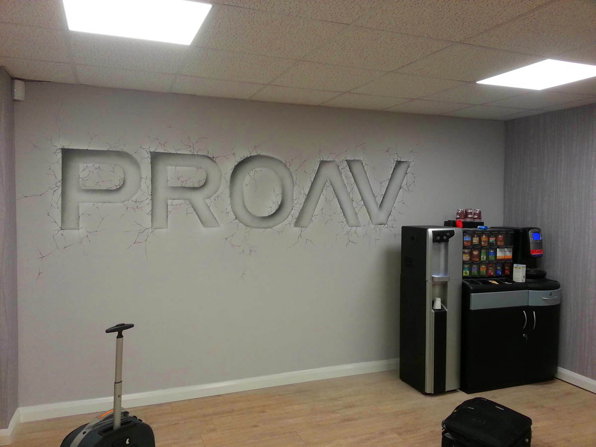 Proav Office Graffiti Mural Artwork