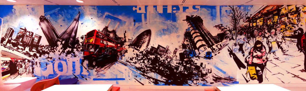 London Office Graffiti Mural Artwork