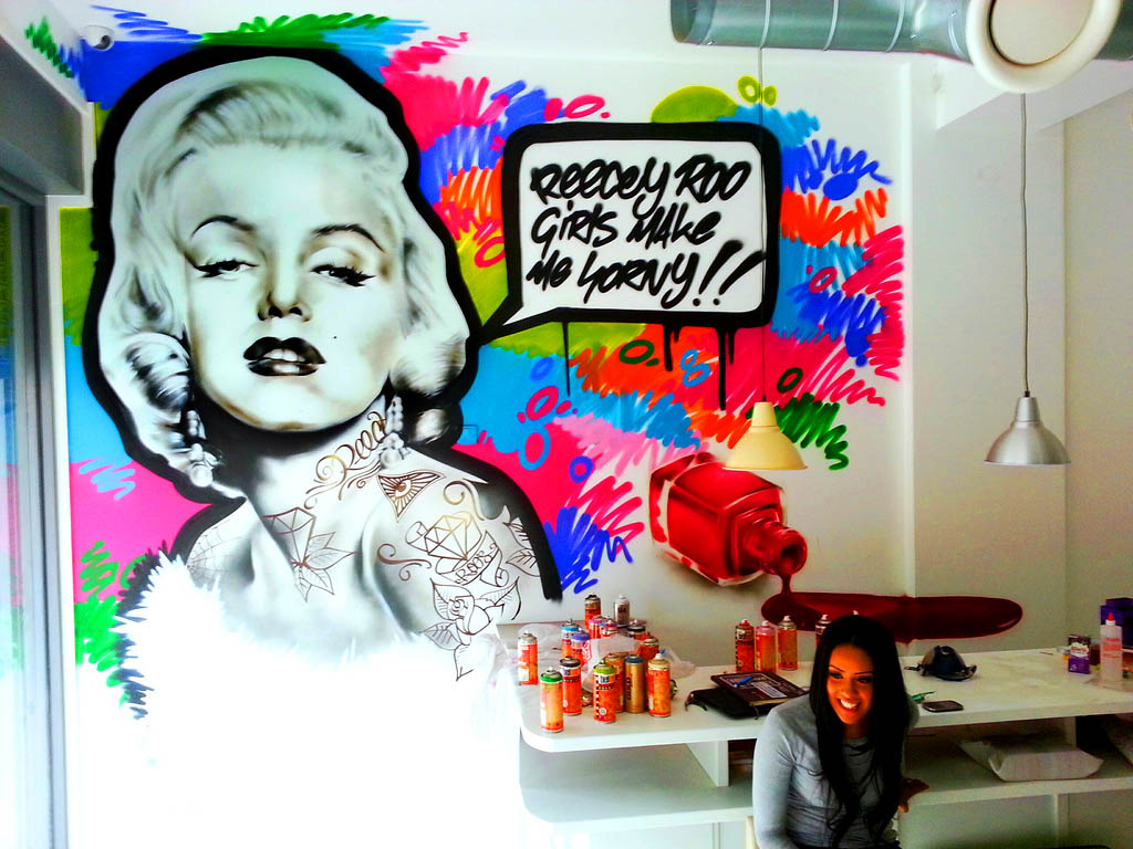 Marilyn Munroe Office Graffiti Mural Artwork