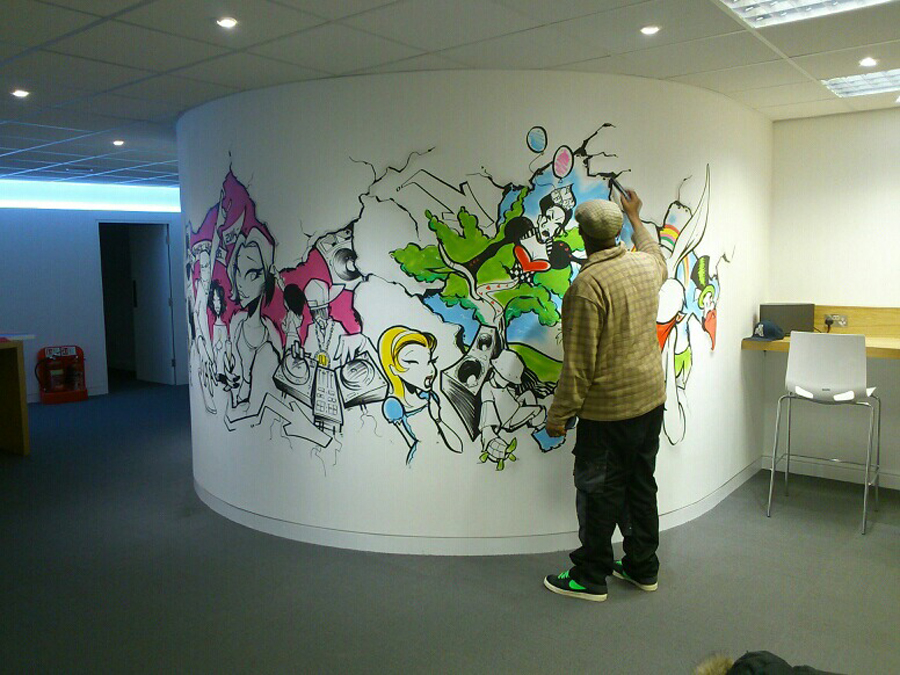 Risual Office Graffiti Mural