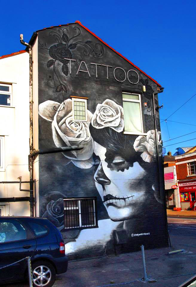 Steel Point Tattoo Croydon Graffiti Mural