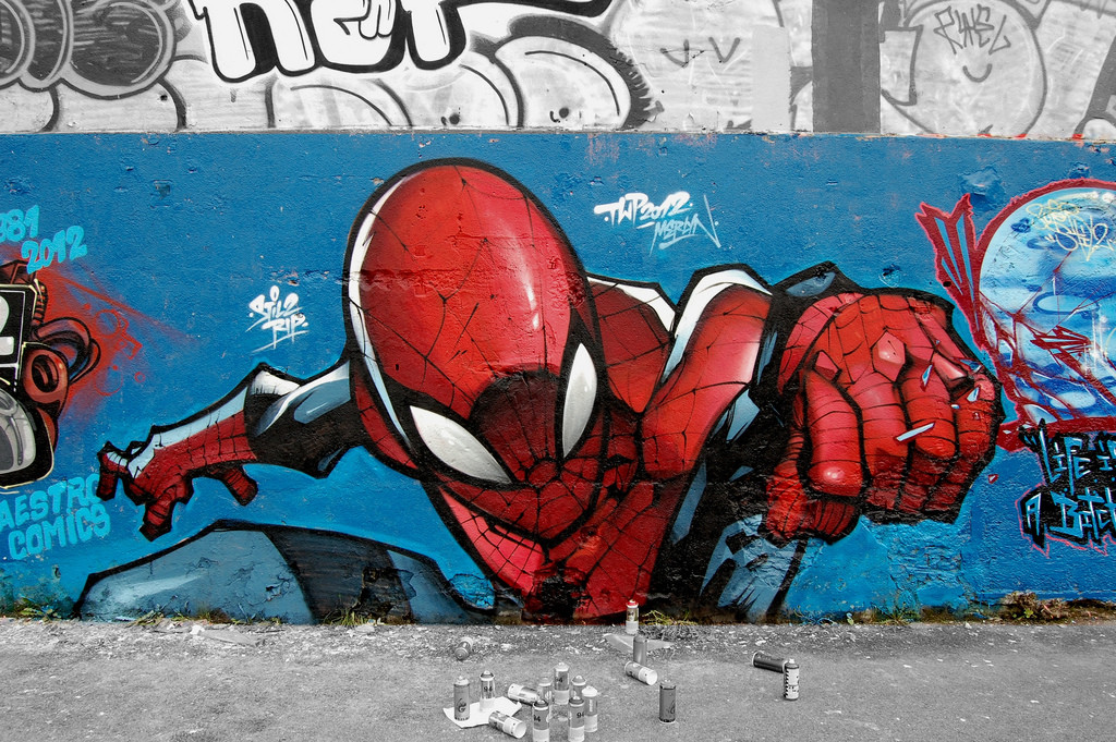 Superhero Graffiti Spider-man
