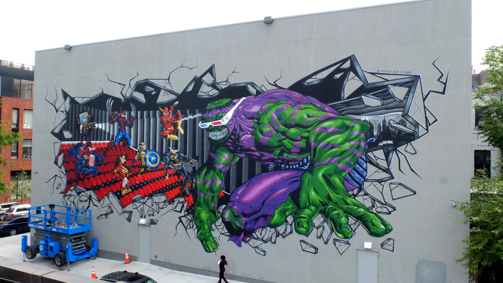Superhero Graffiti Street Art