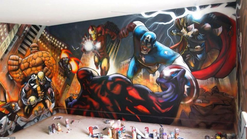 Graffiti Street Art superheroes