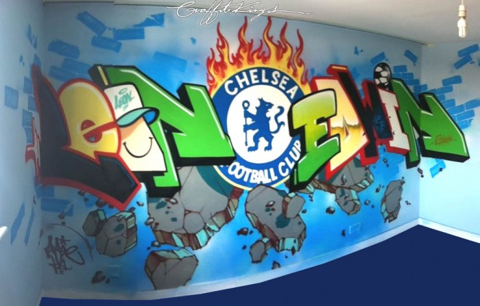 Chelsea football club - Bedroom Graffiti mural