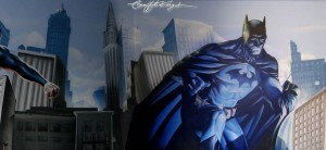 Batman Bedroom Graffiti mural