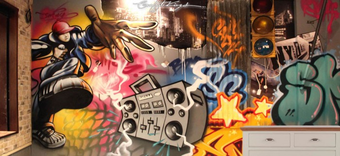 MC Bedroom Graffiti mural