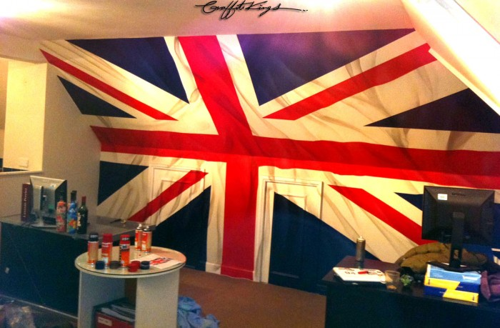 Union Jack Bedroom Graffiti mural