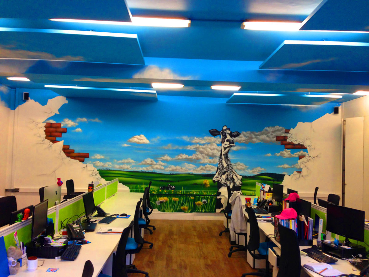 We just pimped the walls & ceiling of the Outstanding Branding office