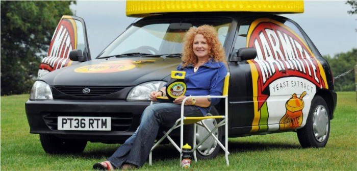 Marmite graffiti car