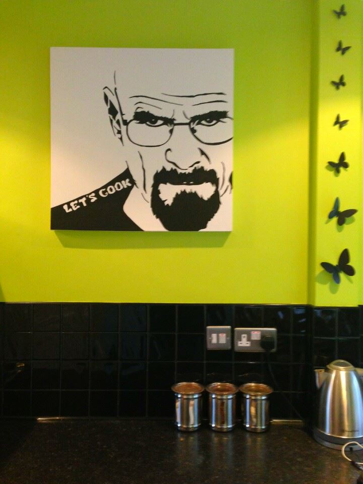 walter white breaking bad artwork