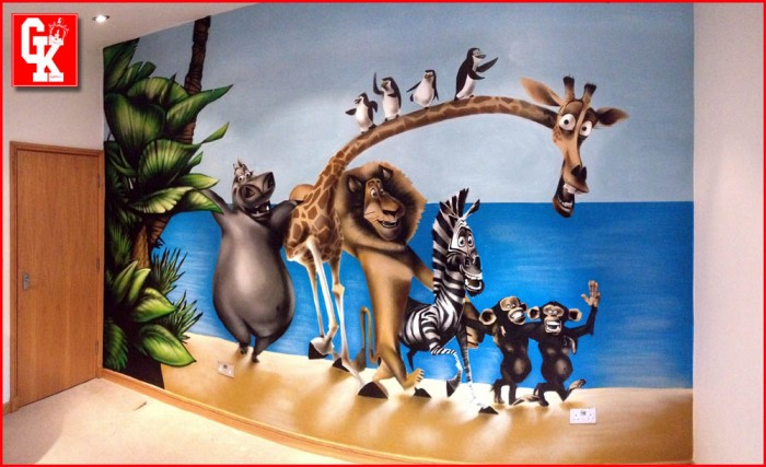 Madagascar Bedroom Graffiti mural